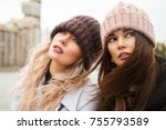 outdoors fashion portrait of... | Shutterstock . vector #755793589