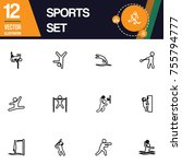 sport icon collection vector set | Shutterstock .eps vector #755794777