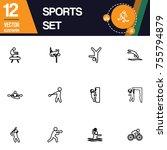 sport icon collection vector set   Shutterstock .eps vector #755794879