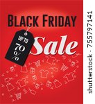 black friday sale poster... | Shutterstock .eps vector #755797141