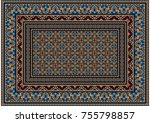 luxurious colourful old design...   Shutterstock .eps vector #755798857