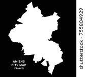 amiens  france city map vector | Shutterstock .eps vector #755804929