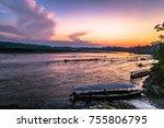 harbor of boca manu village in...   Shutterstock . vector #755806795