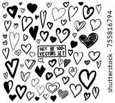 mega set of 100  handdrawn... | Shutterstock .eps vector #755816794