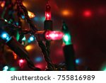 multi color holiday lights | Shutterstock . vector #755816989