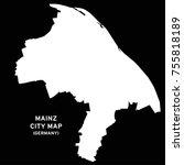 mainz  germany city map vector | Shutterstock .eps vector #755818189