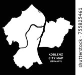 koblenz  germany map vector | Shutterstock .eps vector #755825461