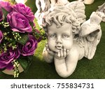 Little Angel Or Cupid Statue...