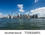 a view of the downtown... | Shutterstock . vector #755836891