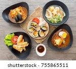 small set of korean food... | Shutterstock . vector #755865511