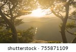 a scenic sunset view of... | Shutterstock . vector #755871109
