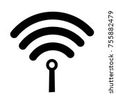 wireless wifi or sign for... | Shutterstock .eps vector #755882479