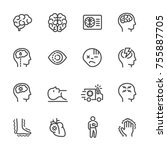 simple line icon set of stroke...   Shutterstock .eps vector #755887705