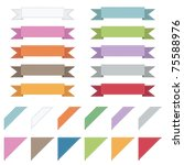 stitched ribbons and corners... | Shutterstock .eps vector #75588976