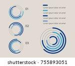 pie chart  vector illustration  ... | Shutterstock .eps vector #755893051