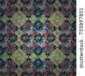 endless abstract seamless... | Shutterstock .eps vector #755897851