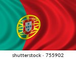 flag of portugal waving in the... | Shutterstock . vector #755902