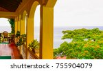 beautiful saint lucia ... | Shutterstock . vector #755904079
