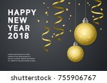 new year background with... | Shutterstock .eps vector #755906767