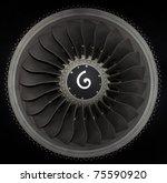 Close Up Of Turbojet Of...