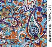 seamless pattern based on... | Shutterstock .eps vector #755914294