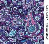 seamless pattern based on...   Shutterstock .eps vector #755914591