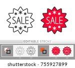 banner  sticker star sale...   Shutterstock .eps vector #755927899