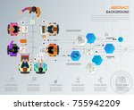 idea concept for business... | Shutterstock .eps vector #755942209