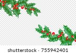 christmas holiday greeting card ... | Shutterstock .eps vector #755942401