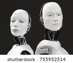 3d rendering of the heads of a... | Shutterstock . vector #755952514