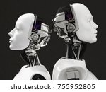 3d rendering of the heads of a...   Shutterstock . vector #755952805