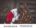 santa claus lifestyle moments | Shutterstock . vector #755952919