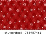 snow crystal background | Shutterstock .eps vector #755957461