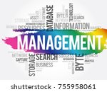 management word cloud collage ... | Shutterstock .eps vector #755958061