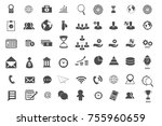 business and management icons... | Shutterstock .eps vector #755960659