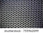 metal mesh of speaker grill...   Shutterstock . vector #755962099