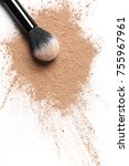 scattered tan colored facial... | Shutterstock . vector #755967961