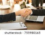 business handshake. successful