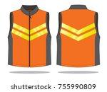 reflective vest design | Shutterstock .eps vector #755990809