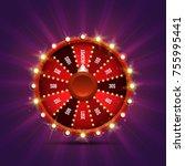lucky roulette. vector... | Shutterstock .eps vector #755995441