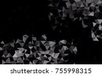 dark silver  gray vector low... | Shutterstock .eps vector #755998315