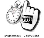 stopwatch with internet cursor... | Shutterstock . vector #755998555