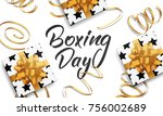 boxing day. banner with boxing... | Shutterstock .eps vector #756002689