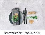 diy ideas for napkin. christmas ... | Shutterstock . vector #756002701