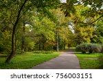 botanical garden  autumn park | Shutterstock . vector #756003151