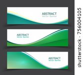 set of banner templates. ... | Shutterstock .eps vector #756004105