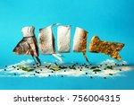 creative idea  the fish in a... | Shutterstock . vector #756004315