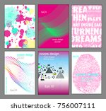 poster covers set with modern... | Shutterstock .eps vector #756007111