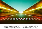 night speedy motion blur... | Shutterstock . vector #756009097