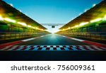 night speedy motion blur... | Shutterstock . vector #756009361